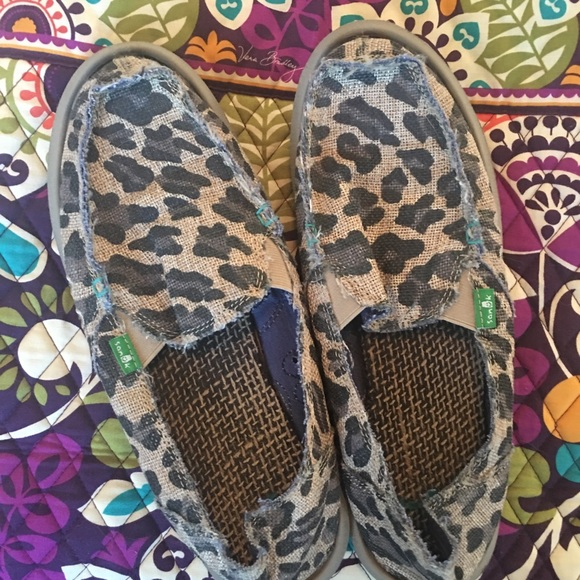 Sanuk Shoes | Leopard Sanuks Worn Once